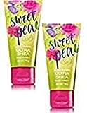 Bath and Body Works 2 Pack Travel Size Sweet pea Body Cream 3 Oz.