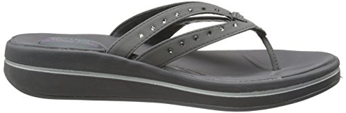 Skechers Womens Upgrades-goal Oriented Relaxed Fit Sandals Grau (Ccl)