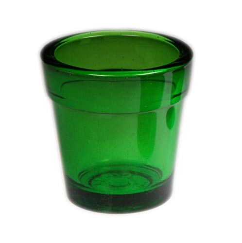 Green True Colored Glass Candleholder Votive Tea Light Heavy Glass Made in USA Box 6