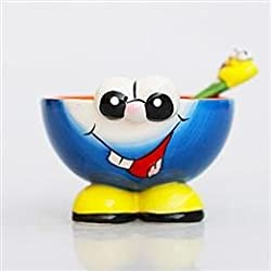 Cute Face Hand-Painted Children's Ceramic Tableware Bowls