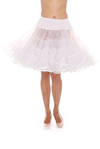 - Madeline Knee Length Petticoat - Very Full Skirted Dance Petticoat for Serious Skirt Volume Vintage Clothing and Rockabilly White
