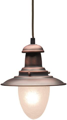 Elk 010-Ac Railroad 1-Light Pendant, 9-Inch, Antique Copper