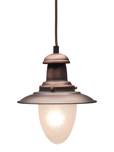 Elk 010-Ac Railroad 1-Light Pendant, 9-Inch, Antique - Nickel Pendant Railroad