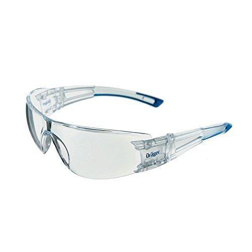 Dräger Schutzbrille X-pect 8330 Scheibe aus PC UV-Schutz: 99,9% Bügelbrille CE-zertifiziert incl. Antikratz+Antibeschlag