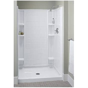 Sterling Vikrell 72101100-0 36 in. White High Gloss Ensemble Shower ...