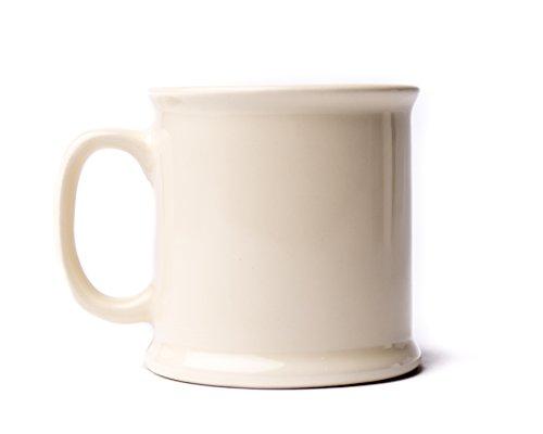 American Mug Pottery 14 oz. Ceramic Coffee Mug, Pack of 2, Made in USA, Ivory (Ivory Coffee Mug)