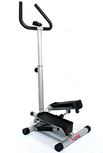 Sunny Health & Fitness NO. 059 Twist Stepper Step Machine w/Handle Bar and LCD Monitor For Sale