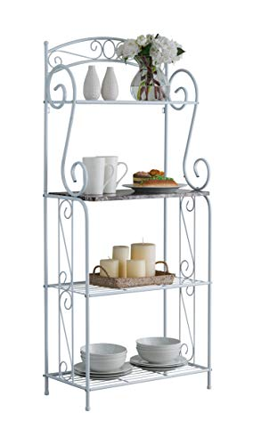 Kings Brand Furniture - Bulberry Metal Kitchen Storage Baker's Rack, White by Kings Brand Furniture (Image #3)