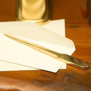 Brass Letter Opener - Jefferson Brass Large Brass Letter Opener