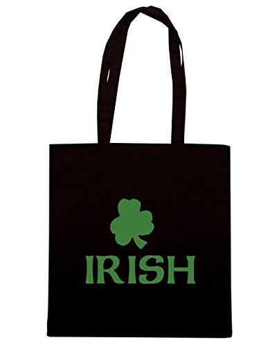T-Shirtshock - Bolsa para la compra TIR0089 irish dark tshirt (1) Negro