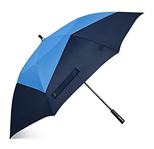 Umenice Auto Open Double Layer Windproof Golf Umbrella Club Likes (Royal Blue-Navy Blue) UUG-62A06RN