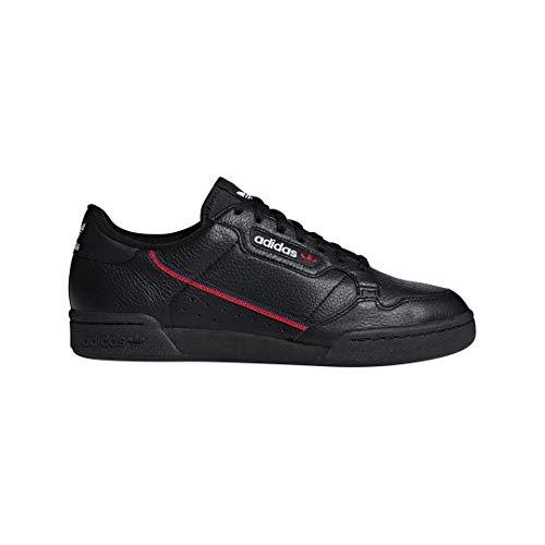 adidas Originals Men's Continental 80 Sneaker, Black/Scarlet/Collegiate Navy, 9.5 Medium US