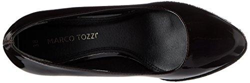 Tozzi con Donna Marco Rosso 22440 Scarpe Patent Plateau Merlot F7pnqpx