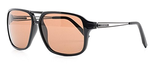 Serengeti Sunglasses For Men VENEZIA 8192 Polarized Photochromic Black Brown lenses Full Rim Rectangular 60 mm Metal - Venezia Sunglasses