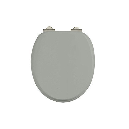 Burlington Dark Olive Seat - Chrome Soft Close with Chrome Handles by - Burlington Shopping