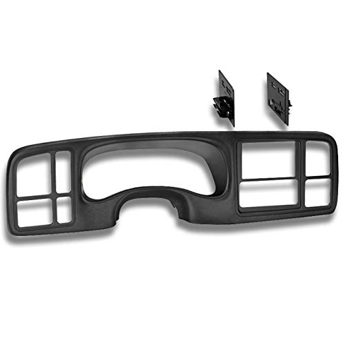 Ai GMK346TB Double DIN Dash Kit for 1999-2002 GM Trucks/SUV's OEM Textured, Full Size, Black ()