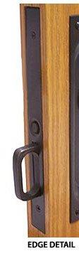 Pocket Door Mortise Lock- PASSAGE- MEDIUM BRONZE by EMTEK