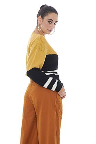 Géométrique black 5preview Tricot Femme Celestine Mustard white Fantaisie nSIgqS