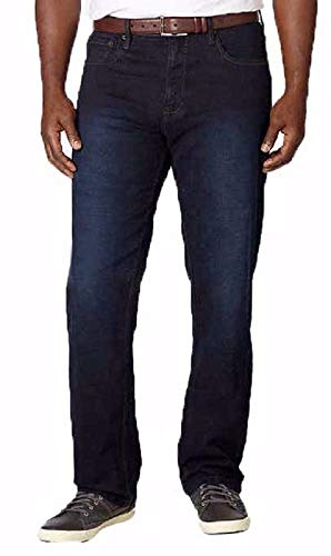 Urban Star Mens Relaxed Fit Straight Leg Stretch Jeans (32X30, Dark Rinse)