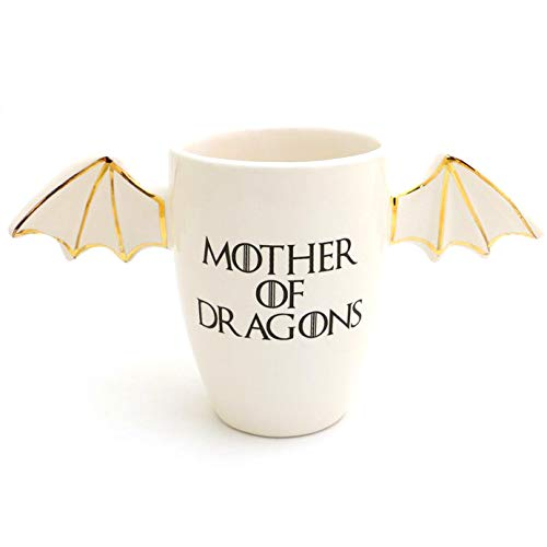 Mother of Dragons Tumbler Mug with 22k Gold Accents ()