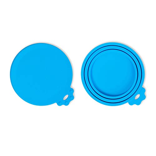 SACRONS-Can Covers/2 Pack/Universal Silicone Can Lids for Pet Food Cans/Fits Most Standard Size Dog and Cat Can Tops/100% FDA Certified Food Grade Silicone & BPA Free (Top Best Dog Foods)