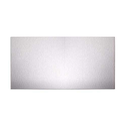 Fasade – Ripple Vertical Matte White Decorative Wall Panel – Fast and Easy Installation 4 X 8 Panel