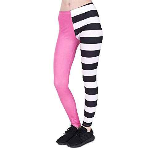 Donna Stampa Leggings High Yoga Women Fitness Pants Pink Stripes Legins Cosy And Fashion Grazioso Lga44836 Legging ww4tzqS