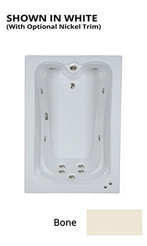 Watertech - 6042 Elite Bone Whirlpool Bath (60 in. x 42 in.) - Includes 12.5 amp In-Line Heater (6042 Bathtub)