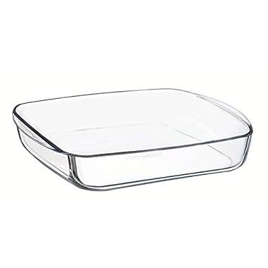Arcuisine Borosilicate Glass Square Dish 8.25 x 8.25 Inches (21 Centimeters)