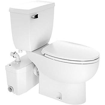 Saniflo Saniplus Macerating Upflush Toilet Kit With Elongated Bowl Two Piece Toilets