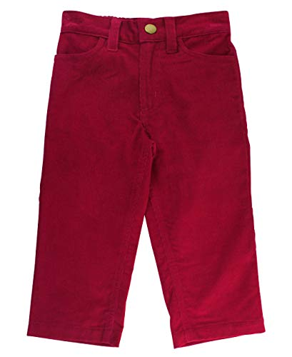 Boys Red Corduroy Pants (RuggedButts Baby/Toddler Boys Mulberry Maroon Colored Straight Fit Corduroy Pants -)