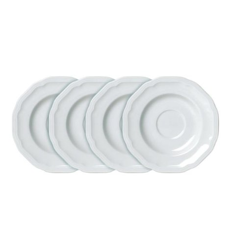 - Mikasa Antique White Tea Saucers, Set of 4 - White