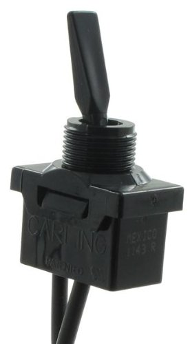 Toggle Switches SP ON-NONE-OFF WIRE LEAD PADDLE BLK (5 pieces) (Blk Paddle)