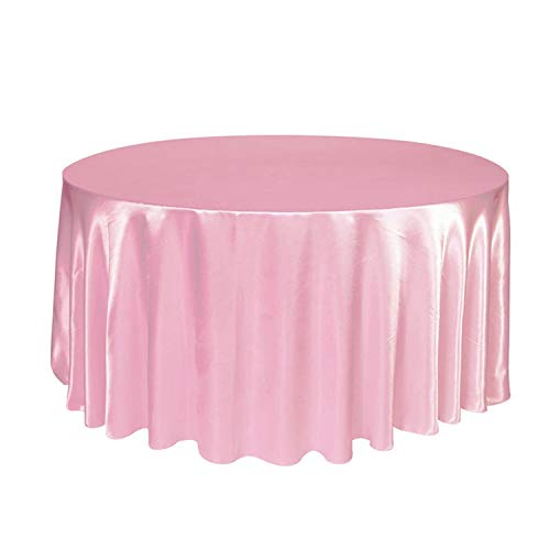 Tablecloths Table Cover for Wedding Party Restaurant Banquet Decorations,Light Pink,120 inches -