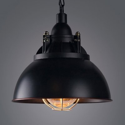 Machine Age Pendant Lamp Vintage Industrial Cage Light