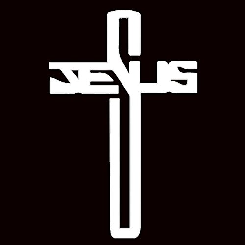 2PCS New JESUS Cross Pattern Self Adhesive Ornament Pattern Christ Faith Accessories For Window Door Laptop Car Stickers Pokewin