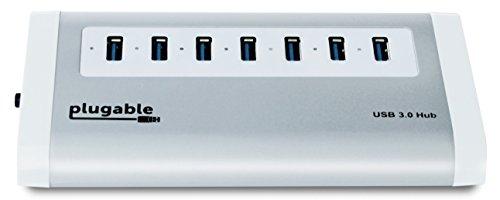 Plugable 7-Port Aluminum USB 3.0 SuperSpeed Hub wi...