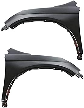 Partomotive For 07-11 CRV Front Fender Panel Molding Moulding Trim Arch Left Right Side SET PAIR