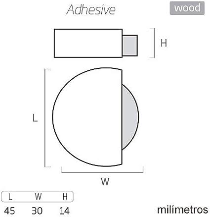 But/ée de porte en bois naturel 45 x 42 x 16 mm avec adh/ésif pour sol POMOLINE 8 unit/és