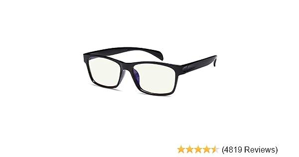 d6434cb122e6 Amazon.com: Gamma Ray Blue Light Blocking Glasses Amber Tint Anti Glare UV  Digital Eyestrain: Clothing