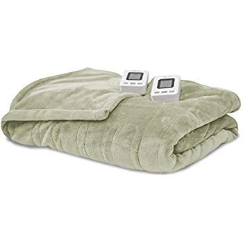 SensorPedic Heated Electric Blanket with SensorSafe, King, Sage