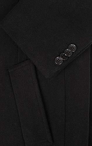 Black Dobell Overcoat Mens Regular Fit 1XY4qH4w