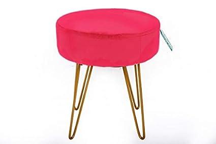 Fabulous Downton Interiors Modern Round Bright Hot Pink Velvet Wire Cjindustries Chair Design For Home Cjindustriesco