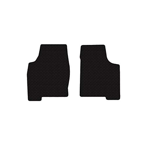 Brightt (MAT-FMG-904) 2 Pc Front Floor Mats - Black All-Weather Rubber Weave Pattern - compatible for 2001-2005 Ferrari 360 Spider With Fire ExtInguisher (2001 2002 2003 2004 2005 | 01 02 03 04 05) ()