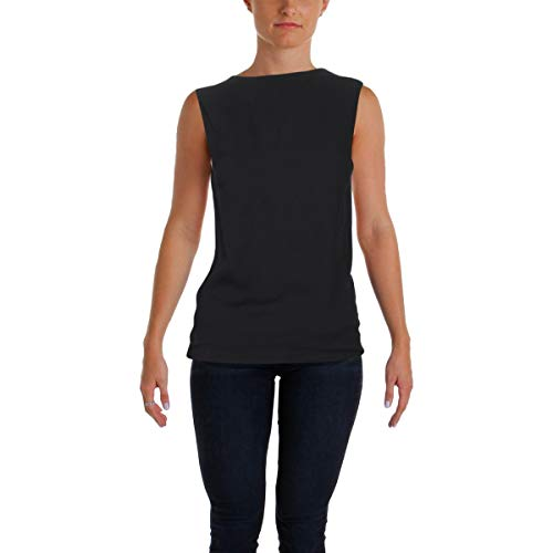 Helmut Lang Womens Knit Square Back Dress Top Black XS