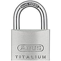 ABUS Hangslot Titalium 64TI/40 - set van 4, gelijksluitend - slotlichaam van speciaal aluminium - geharde stalen beugel…