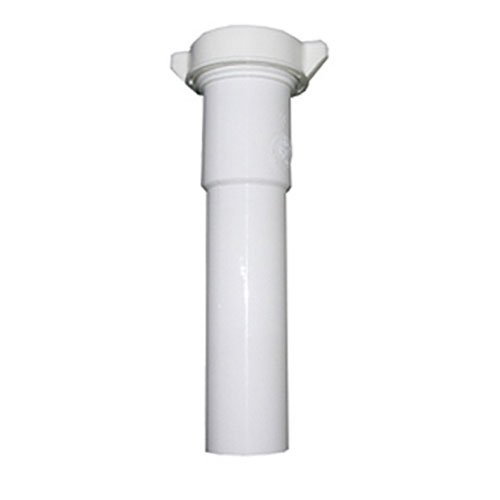 - LASCO 03-4345 White Plastic Tubular 1-1/4-Inch by 12-Inch Slip Joint Extension with Nut and Washer