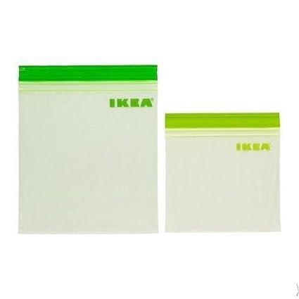 Mucho IKEA Istad Ziplock de plástico resellable bolsas de almacenamiento de alimentos Sandwich congelador Small x