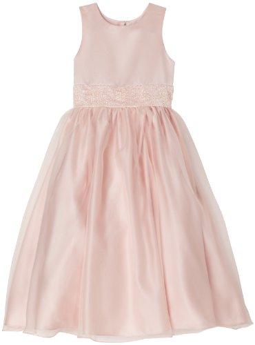 Us Angels Big Girls' Dress With Handbeaded Cummerbund, Blush Pink, 12