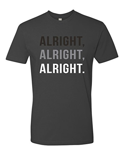 Panoware Men's Alright Alright Alright T-Shirt, Heavy Metal, X-Large